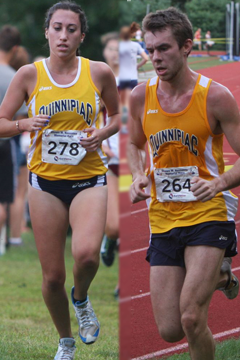 Quinnipiac's Becca White and Rich Klauber